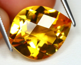 Citrine 7.51Ct VS Pixalated Cut Natural Yellow Golden Citrine AB2038