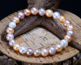 88.10Ct Natural Australian South Sea Pearl Beads Bracelet B2089