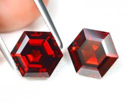 Spessartite 4.04Ct 2Pcs Hexagon Cut Natural Spessartite Garnet AB2049