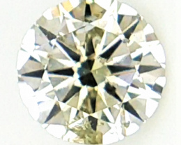 0.24 CTS , Unevenly Distributed Color Diamond , Green Overtone