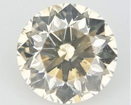 0.21 cts , Light Yellow Colored Diamond , Natural Diamond