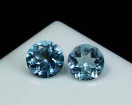 NR!!!! 2.85 CTs GGTI-Certified - Blue Topaz Gemstone Pair