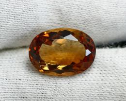NR!!! 11.25 Cts~ GGTI-Certified- Orange Brown Topaz Gemstone