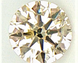 0.13 CT , Natural Round Yellow Diamond , Light Colored Diamond