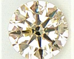 0.13 CT , Natural Round Yellow Diamond , Light Colored Diamond