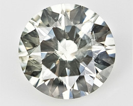 0.13 cts , Grey Green Overtone Diamond , Natural Light Color