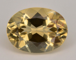1.25 Ct Natural Heliodor AAA Grade Yellow Color t