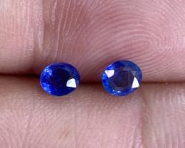 0.56ct clean unheated blue sapphire