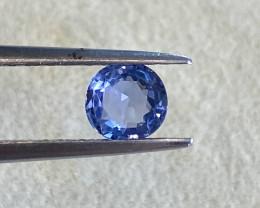 0.78ct clean unheated blue sapphire