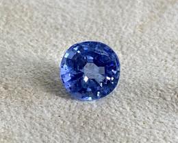 1.23ct unheated unheated blue sapphire