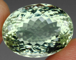 21.22 ct  Natural Earth Mined  Top Rich Green Amethyst Brazil Sparkle