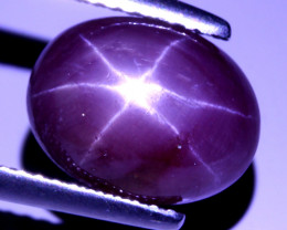 5.83 ct  100% Natural Stunning Sharp 6 Rays Red Star Ruby Africa