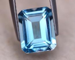 3.66ct Natural Sky Blue Topaz Octagon Cut Lot GW8009