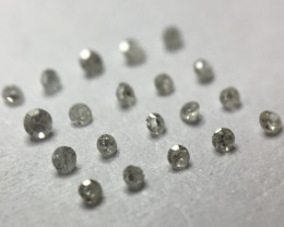 0.10ct 20 x Light Grey I1 - Light I3 Single Cut Diamond