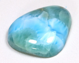 Larimar 16.59Ct Natural Untreated Blue Larimar From Dominican AB2175