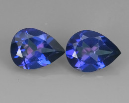 2.60 CTS WONDERFUL TANZANITE COLOR COTED TOPAZ PEAR~EXCELLENT!!