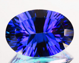 ~WONDER~ 5.56 Cts Tanzanite Color Natural Topaz 14x10mm Oval Concave Brazil