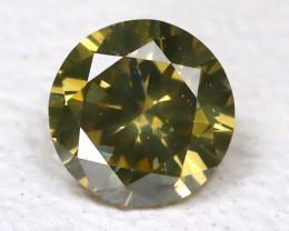 Yellowish Green Diamond 0.10Ct Natural Untreated Fancy Diamond AB2218