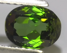 1.20 CTS AWESOME NATURAL OVAL GREEN TOURMALINE GEM!!