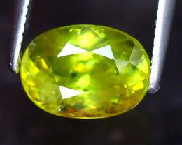 Sphene 1.72Ct Natural Rainbow Flash Green Sphene EF2620/A41