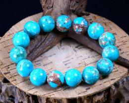 189.05Ct Natural Tibetan Turquoise Beads Bracelet B2249
