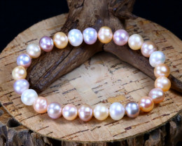 82.50Ct Natural Australian South Sea Pearl Beads Bracelet B2252