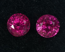 1.66CT PAIR OF BURMESE RUBIES - Top Quality & Fire