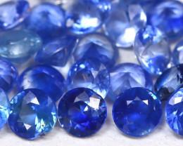 1.57Ct Calibrate 2.1mm Natural Vivid Blue Sapphire Round Lot B2134