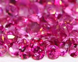 Pink Topaz 3.27Ct Round 2.3mm Natural Vivid Pink Topaz Lot B2147