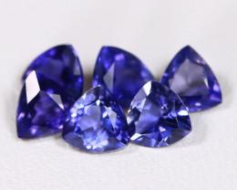 Iolite 2.07Ct Trillion Cut Natural Purplish Blue Color Iolite Lot B2149
