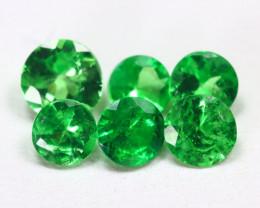 1.09Ct Calibrate 3.6mm Natural Green Color Tsavorite Garnet Lot B2190