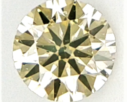 0.12 CTS , Round Brilliant Cut , Light Colored Diamond