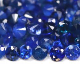 1.82Ct Calibrate 1.5mm Round Natural Royal Blue Sapphire B2269