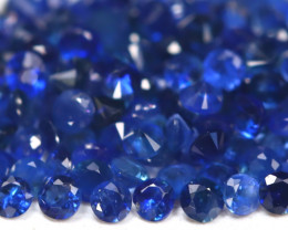 1.64Ct Calibrate 1.2mm Round Natural Royal Blue Sapphire B2274