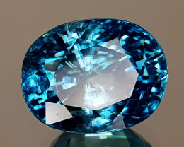 11CT NATURAL BLUE ZIRCON BEST GRADE IGCBZS02