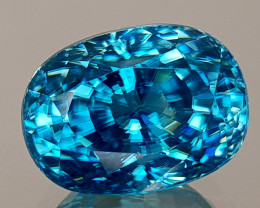 6CT NATURAL BLUE ZIRCON BEST GRADE IGCBZS04
