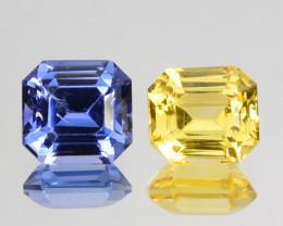 Matching Pair!2.12Cts Natural Corundum Sapphire SriLanka Gem (Video Avl)