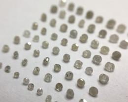 1.175ct 75 x Grey/Brown Pique Single Cut Round Diamond