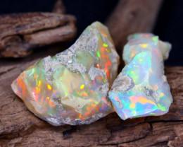27.72Ct Bright Color Natural Ethiopian Welo Opal Rough DT0182