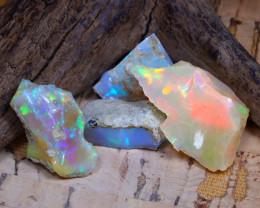 29.84Ct Bright Color Natural Ethiopian Welo Opal Rough DT0254