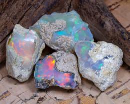 36.81Ct Bright Color Natural Ethiopian Welo Opal Rough DT0261