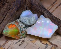 32.87Ct Bright Color Natural Ethiopian Welo Opal Rough DT0281