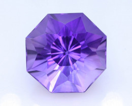 Rich Blue 19.40 Ct Natural Laser Cut Amethyst ~ Nigeria ! G !