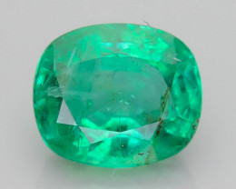 1.70 ct Zambian Emerald Vivid Green Color SKU-36