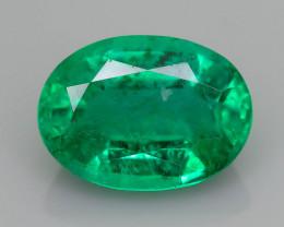 1.20 ct Zambian Emerald Vivid Green Color SKU-36