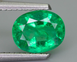 1.18 ct Zambian Emerald Vivid Green Color SKU-36