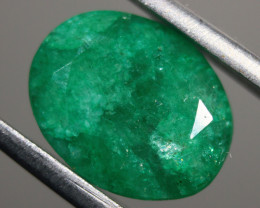 Cts.  3.75 emerald oval facet Zambia  RFA58