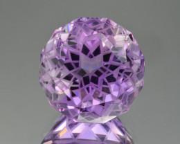 Natural  Amethyst 46.58 Cts Precision Cut Gemstone