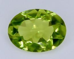 1.15 Crt Natural Peridot Faceted Gemstone.( AB 45)