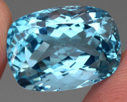 Clean 24.63 Ct  Antique Cut 100% Natural Swiss Blue Topaz Brazil Explode